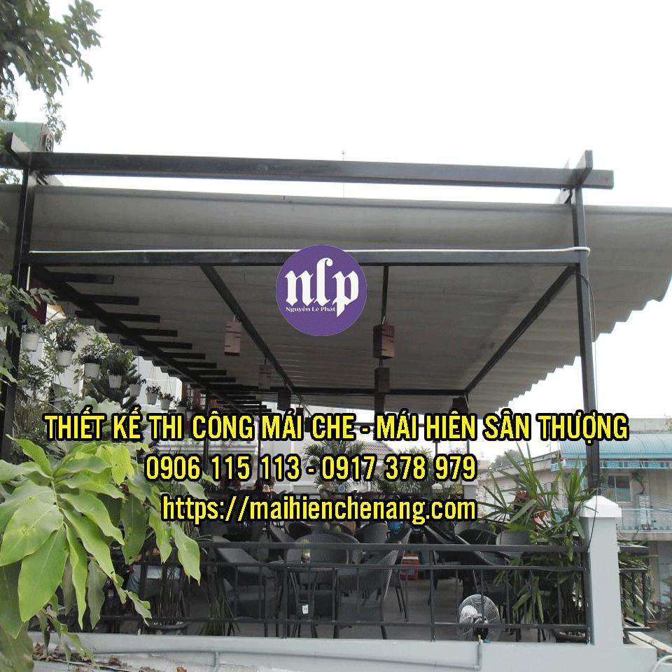 Giá mái hiên bạt che kéo xếp di động tại Biên Hòa Đồng Nai