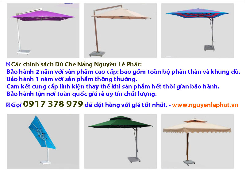Bảng Giá Bán Dù Che Nắng Ngoài Trời, Dù Che Nắng Quán Cafe giá rẻ tphcm 0917 378 979