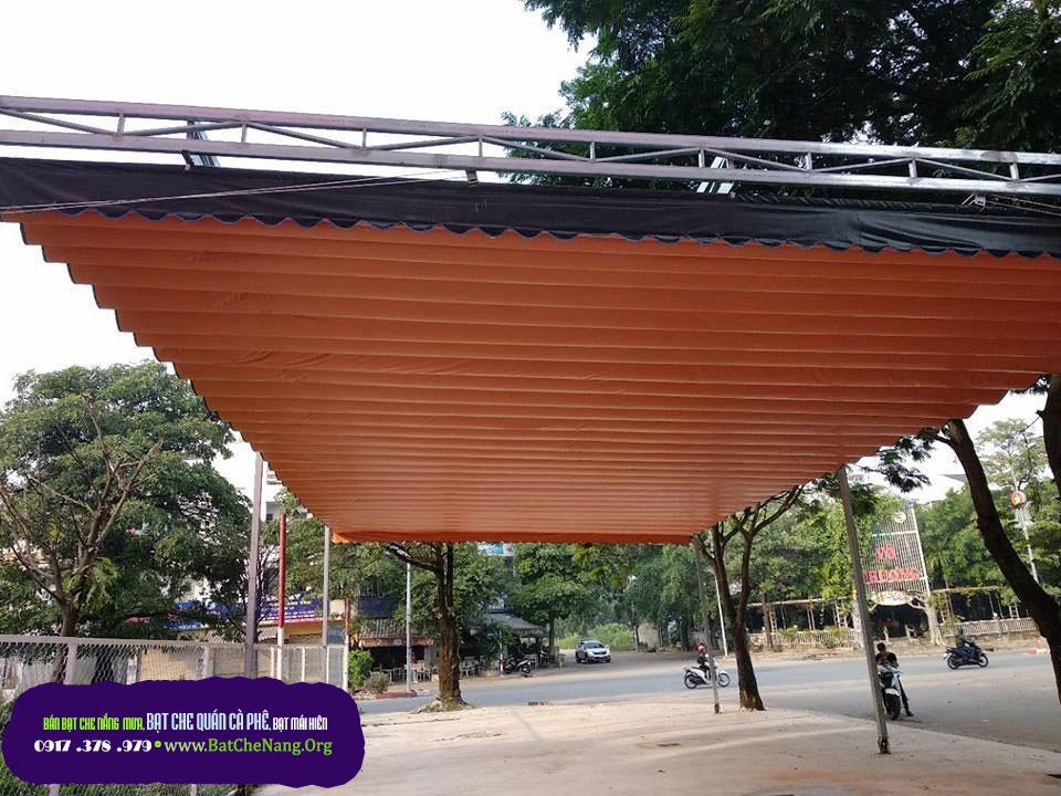 Báo Giá Mái Xếp Lượn Sóng Quán Cafe tại Thái Bình, Bạt Kéo Mái Hiên Che Nắng Quán Cafe