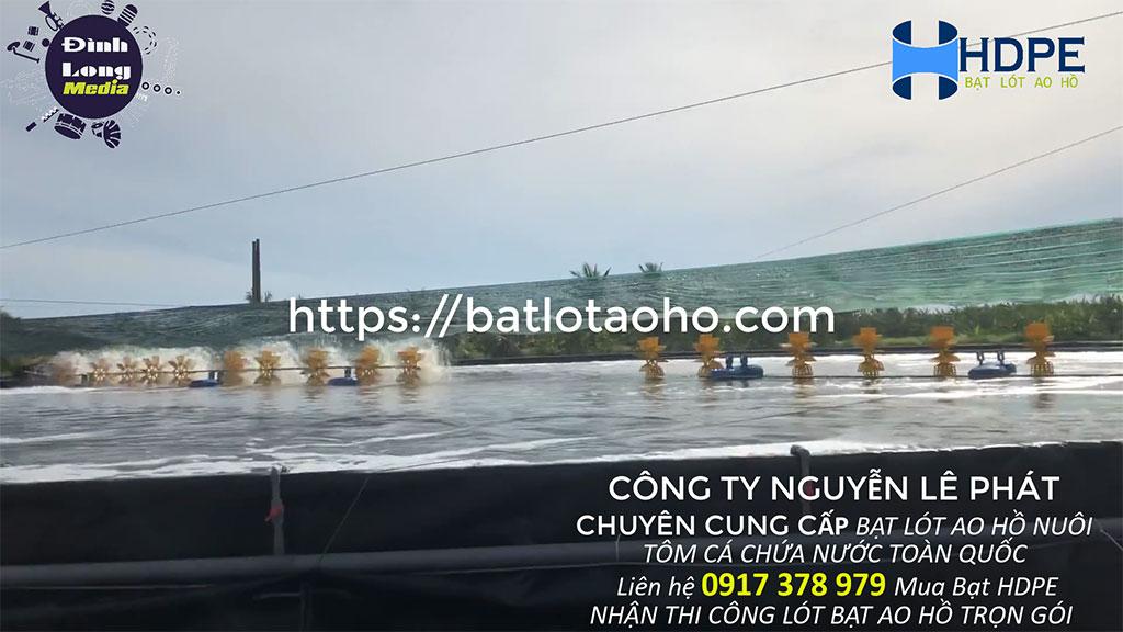 Bạt Lót Hồ Nuôi Tôm Cá | Bạt HDPE lót hồ nuôi thủy sản | Màng chống thấm HDPE