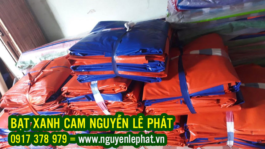 Bạt Xanh Cam Phơi Cafe, Bạt Xanh Cam Phơi Nông Sản, Bạt Xanh Cam Che Phủ Công Trình