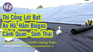 Thi Công Lót Bạt Hồ Chứa Nước tại Bình Phước, Hầm Biogas Màng Chống Thám HDPE